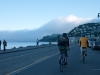 riding along bridgeway in sausalito