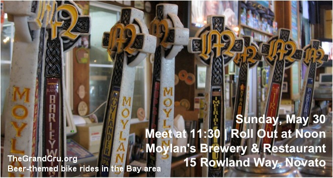 Sunday, May 30 Meet at 11:30 | Roll Out at Noon Moylan's Brewery & Restaurant 15 Rowland Way, Novato