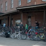 bikes stacked up at linden st